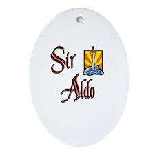 Sir Aldo Oval Ornament