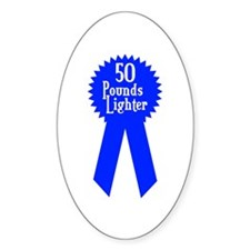 50 Pounds Award Oval Decal