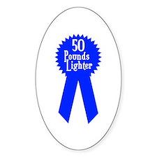 50 Pounds Award Oval Sticker (50 pk)