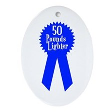 50 Pounds Award Oval Ornament