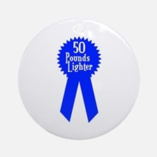 50 Pounds Award Ornament (Round)