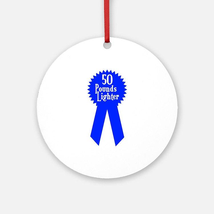 50 Pounds Award Ornament (Round)