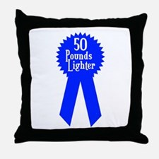 50 Pounds Award Throw Pillow