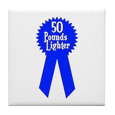50 Pounds Award Tile Coaster