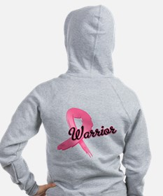 Breast Cancer Warrior Zip Hoodie