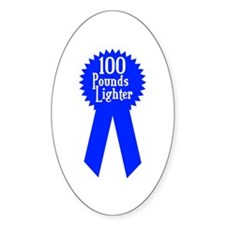 100 Pounds Award Oval Decal
