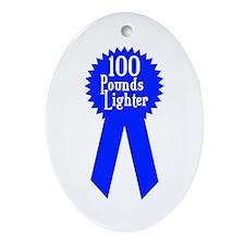 100 Pounds Award Oval Ornament