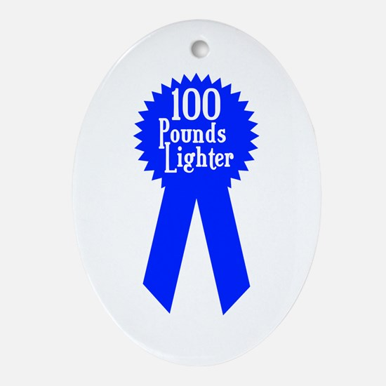 100 Pounds Award Oval Ornament