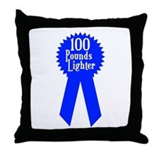 100 Pounds Award Throw Pillow