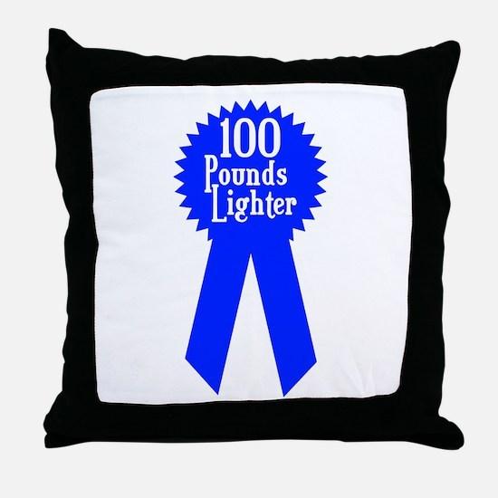 100 Pounds Award Throw Pillow