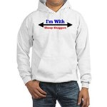 I'm With Sheep Shaggers Hooded Sweatshirt