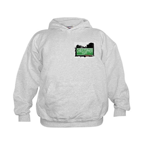 CHRISTOPHER STREET, MANHATTAN, NYC Kids Hoodie