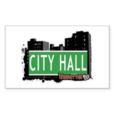 CITY HALL, MANHATTAN, NYC Rectangle Decal