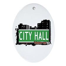CITY HALL, MANHATTAN, NYC Oval Ornament