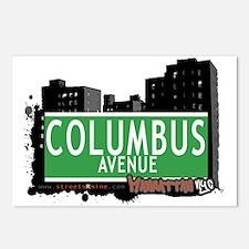 COLUMBUS AVENUE, MANHATTAN, NYC Postcards (Package