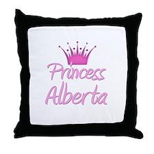 Princess Alberta Throw Pillow