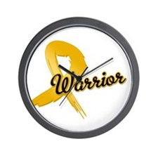 Appendix Cancer Warrior Wall Clock