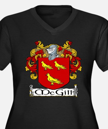McGill Coat of Arms Women's Plus Size V-Neck Dark