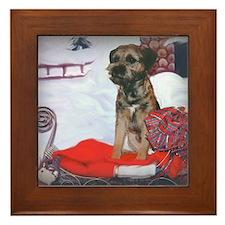 Border Terrier Holiday Framed Tile