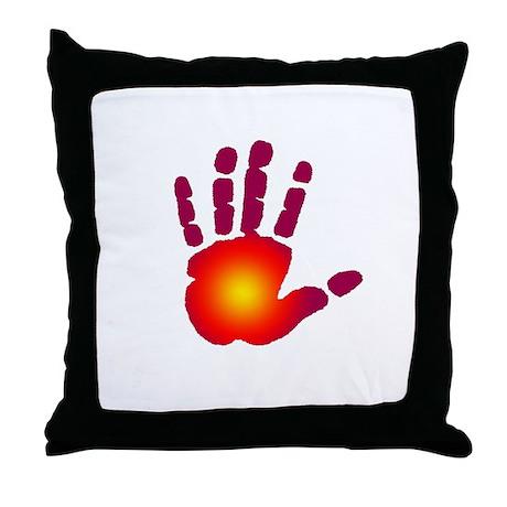 Energy Hand Throw Pillow