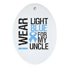 IWearLightBlue Uncle Oval Ornament