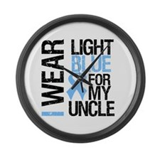 IWearLightBlue Uncle Large Wall Clock