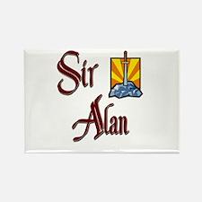 Sir Alan Rectangle Magnet