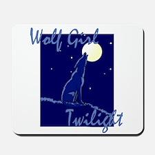 Wolf Girl Twilight Mousepad