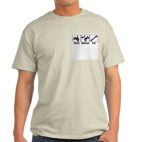 ATV, Ride, Break, Fix. ATV Ash Grey T-Shirt