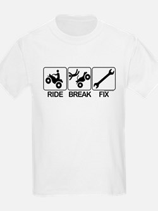 ATV, Ride, Break, Fix. ATV Kids T-Shirt