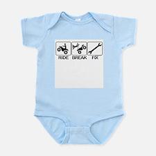ATV, Ride, Break, Fix. ATV Infant Bodysuit