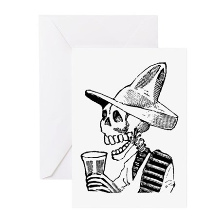 Calavera con Cerveza Greeting Cards (Pk of 20)