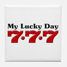 My Lucky Day 777 Tile Coaster