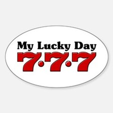 My Lucky Day 777 Oval Decal