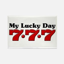 My Lucky Day 777 Rectangle Magnet