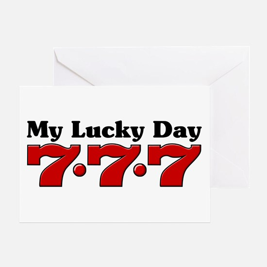 My Lucky Day 777 Greeting Card