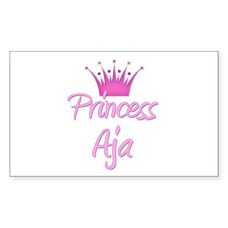 Princess Aja Rectangle Sticker