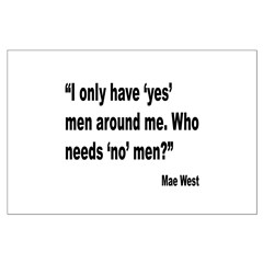 Mae West Yes Men Quote Posters