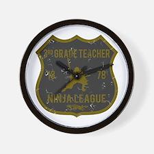 3rd Grade Teacher Ninja League Wall Clock