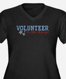 Volunteer Be the Change Women's Plus Size V-Neck D