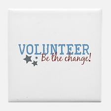 Volunteer Be the Change Tile Coaster