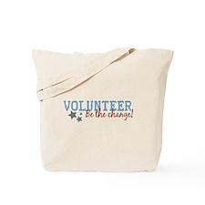 Volunteer Be the Change Tote Bag