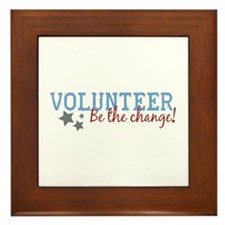 Volunteer Be the Change Framed Tile