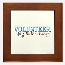 Volunteer Be the Change Framed Tile