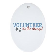 Volunteer Be the Change Oval Ornament