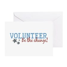 Volunteer Be the Change Greeting Card