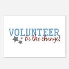 Volunteer Be the Change Postcards (Package of 8)
