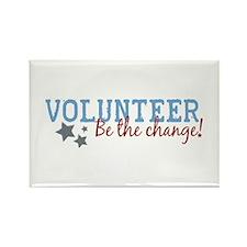 Volunteer Be the Change Rectangle Magnet
