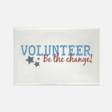 Volunteer Be the Change Rectangle Magnet