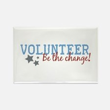 Volunteer Be the Change Rectangle Magnet (10 pack)